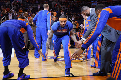 How will Carmelo Anthony's contract affect the Knicks in the future?