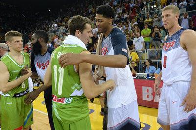 Dragic, Slovenia hounded by Team USA, had