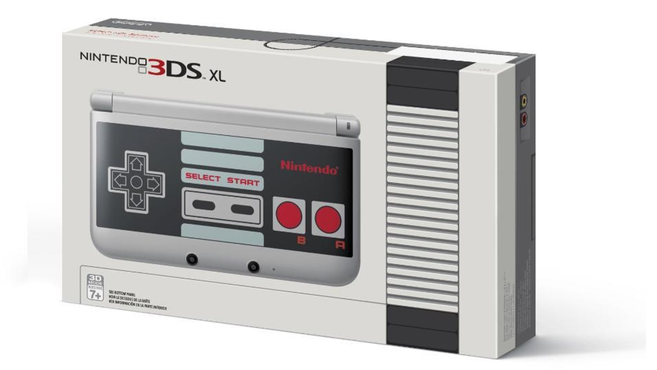 Nintendo 3DS XL with NES design