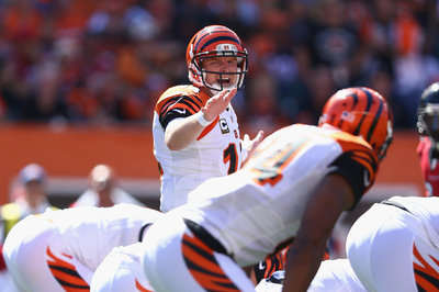 Andy Dalton beats the blitz to hit Mohamed Sanu for game-breaker (GIF)