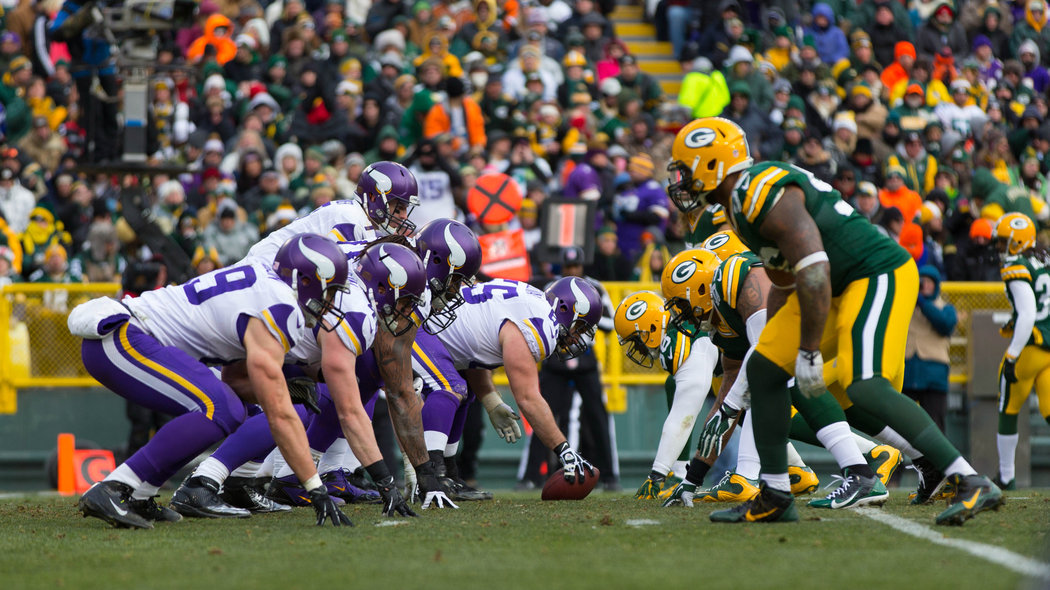 Packers small sunday night favorites at minnesota green bay packers - jacksonville jaguars - mike zimmer