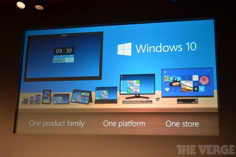 Windows 10, photo by @verge