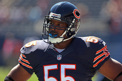 Chicago Bears Injury Report: Lance Briggs, Jermon Bushrod, Shea McClellin all ruled out
