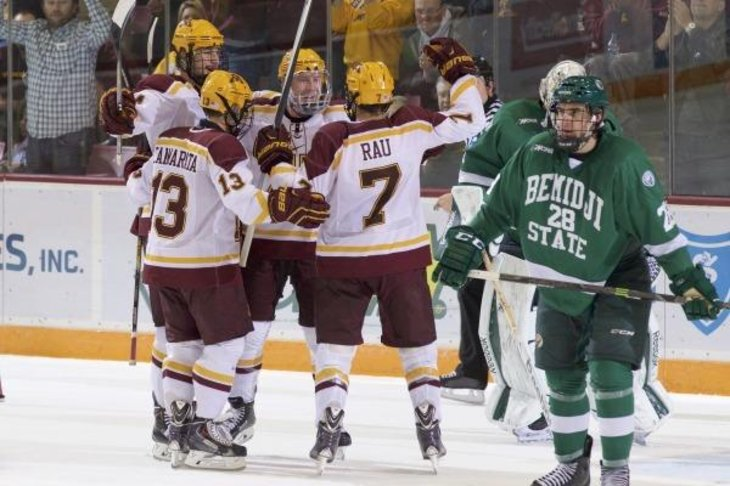 NCAA: Gophers Remain Atop Poll After Sweeping Beavers