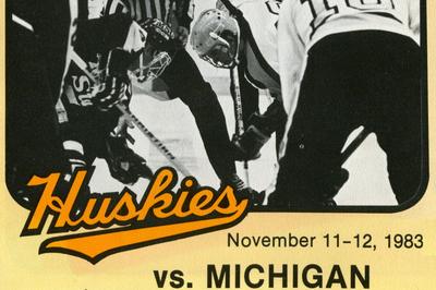BIG10: Michigan At Michigan Tech 1983 Game Program