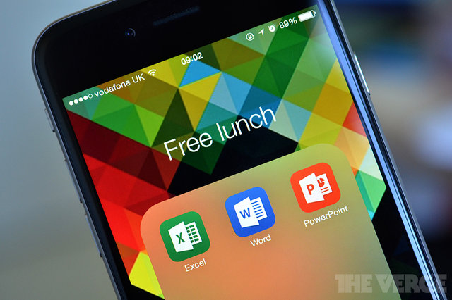 Microsoft made their Office application Free for iPad, iPhone, and Android