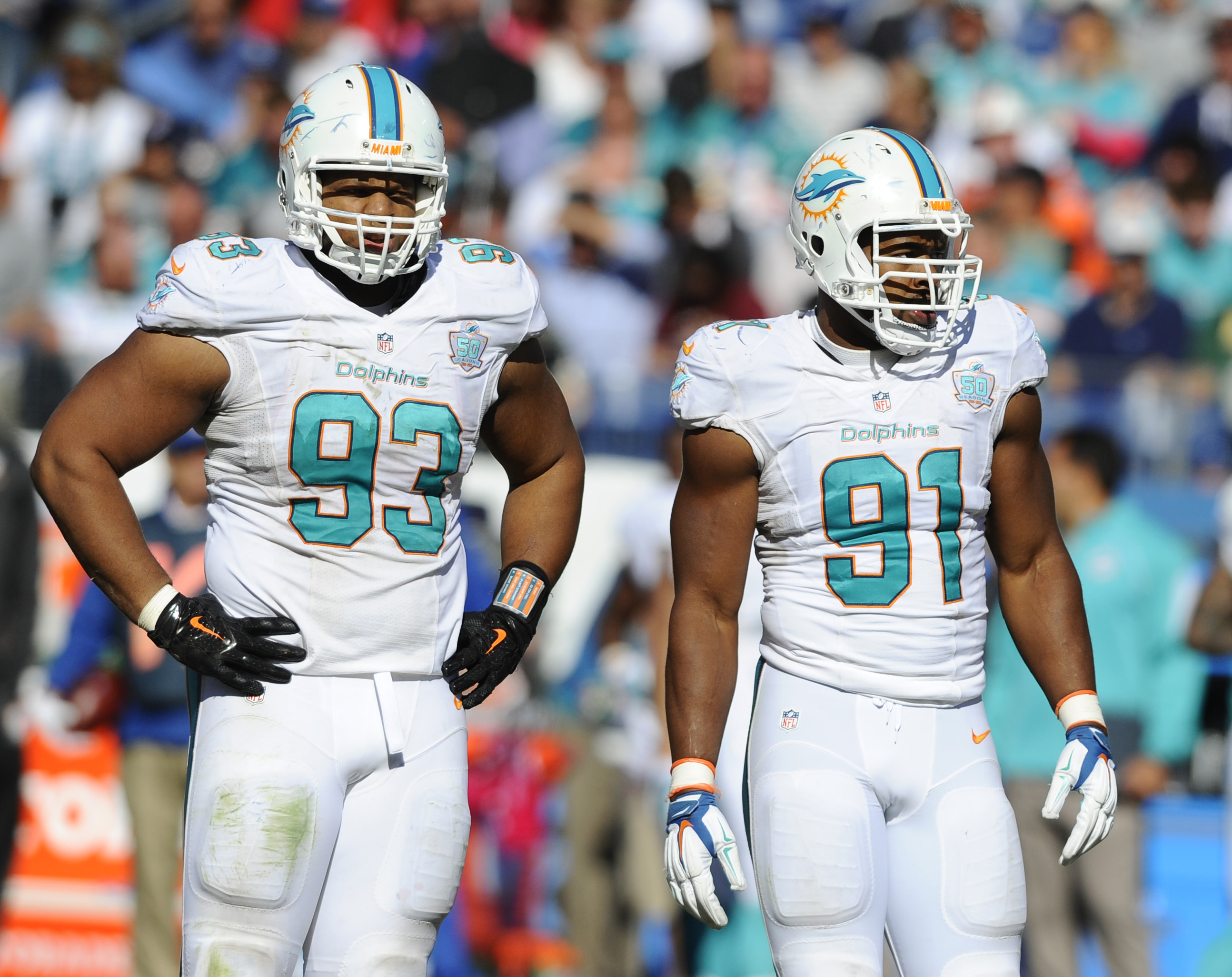 Oct 18 2015 Nashville TN USA Miami Dolphins defensive tackle