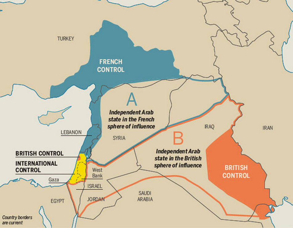 40 maps that explain the middle east the sykes picot treaty that carved up the middle east gumiabroncs