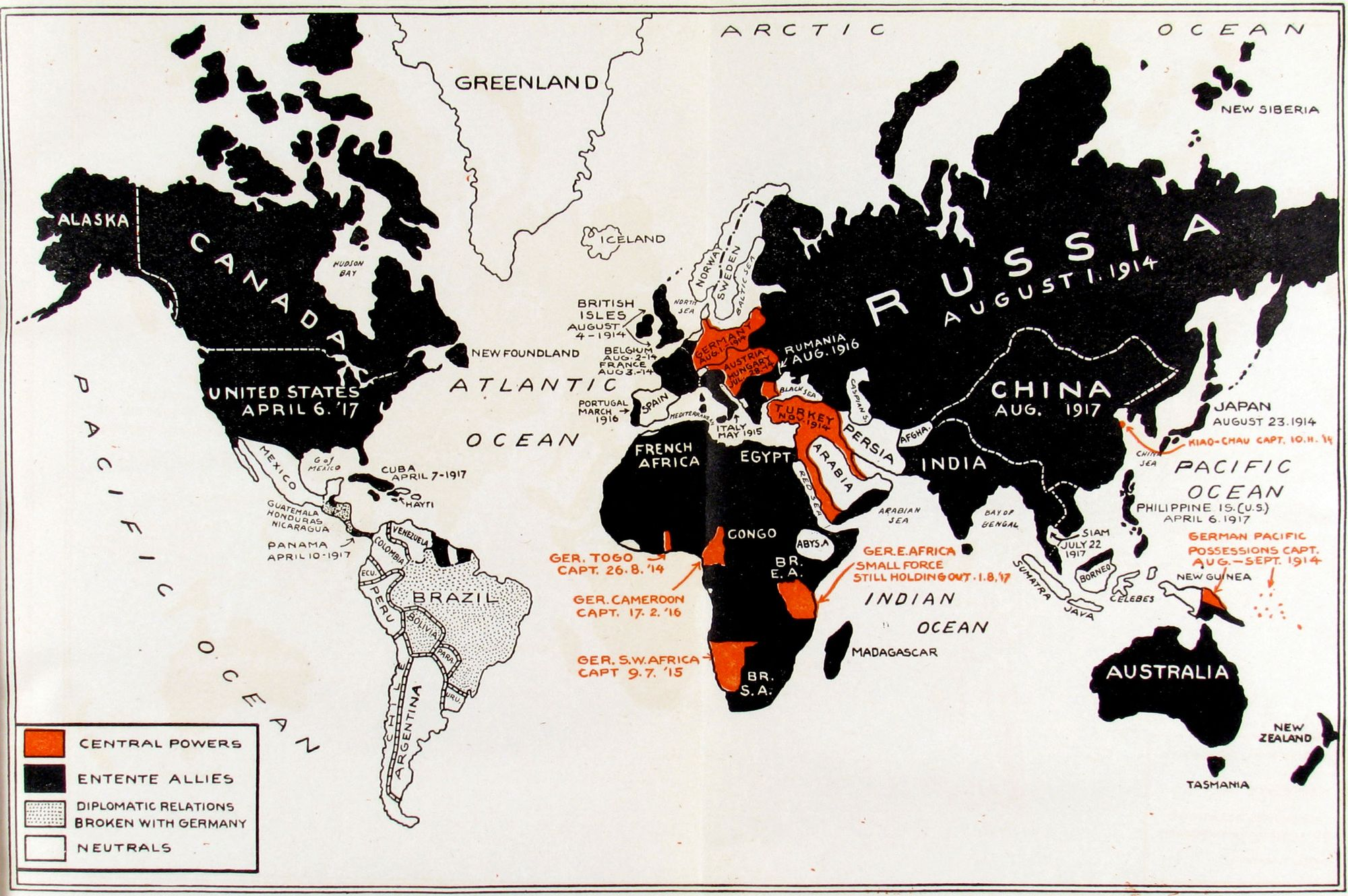 Photos World Map.40 Maps That Explain World War I Vox Com