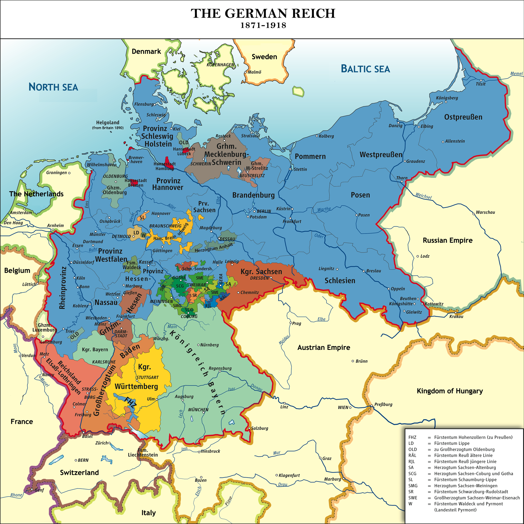 Maps That Explain World War I Voxcom - Germany map in world map