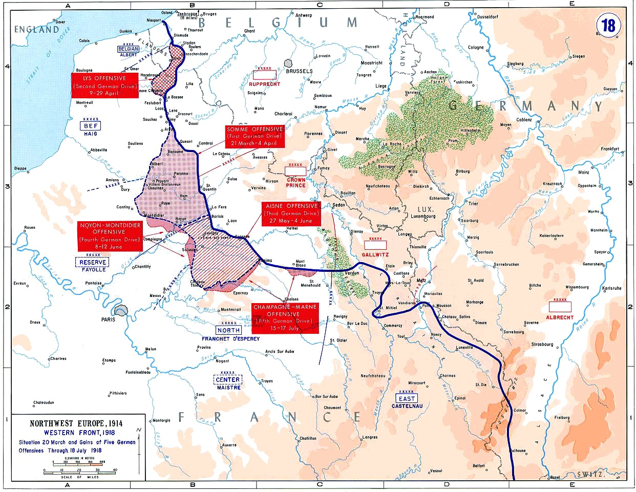 spring  germany's last offensive.  maps that explain world war i  voxcom