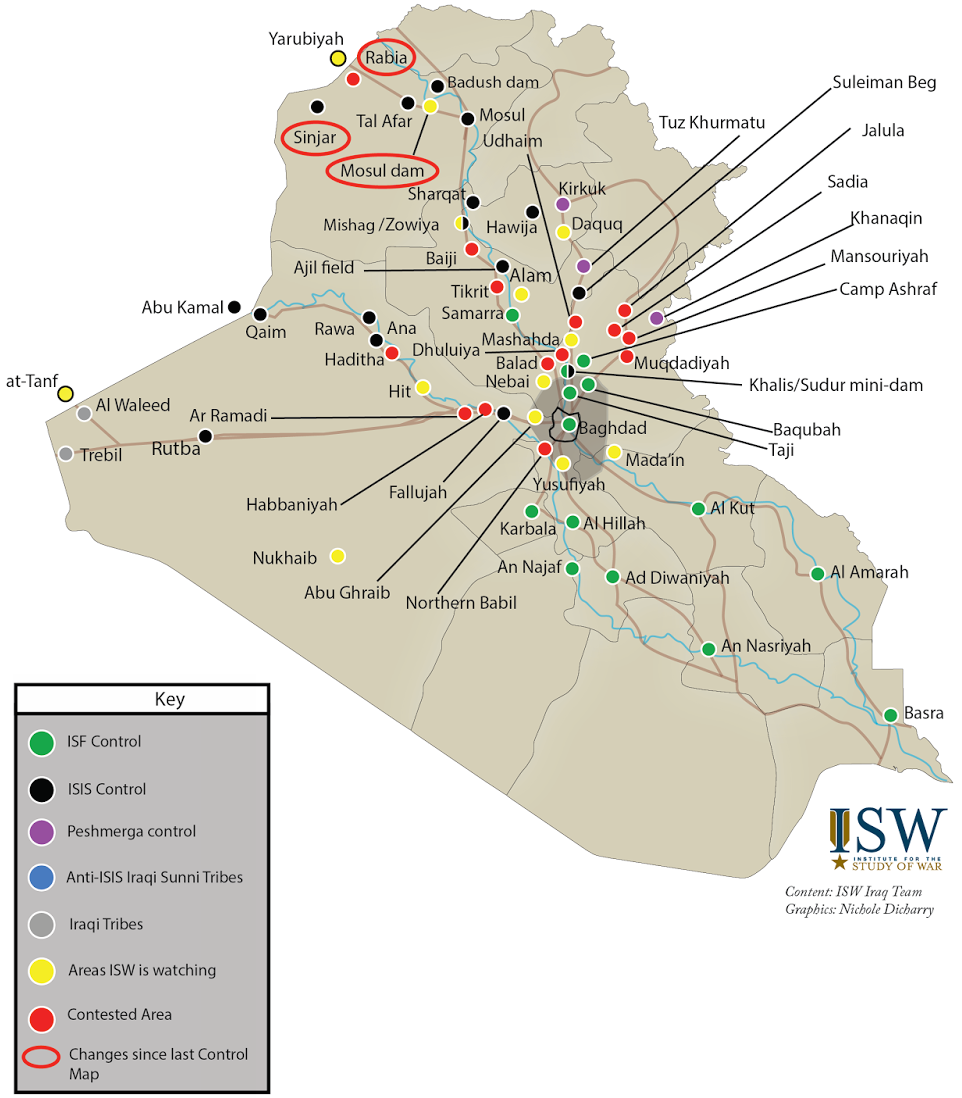 isiss war in iraq as of august 2014