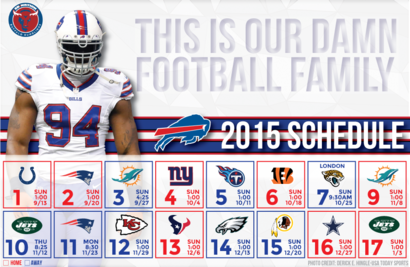 2015 Bills schedule wallpapers