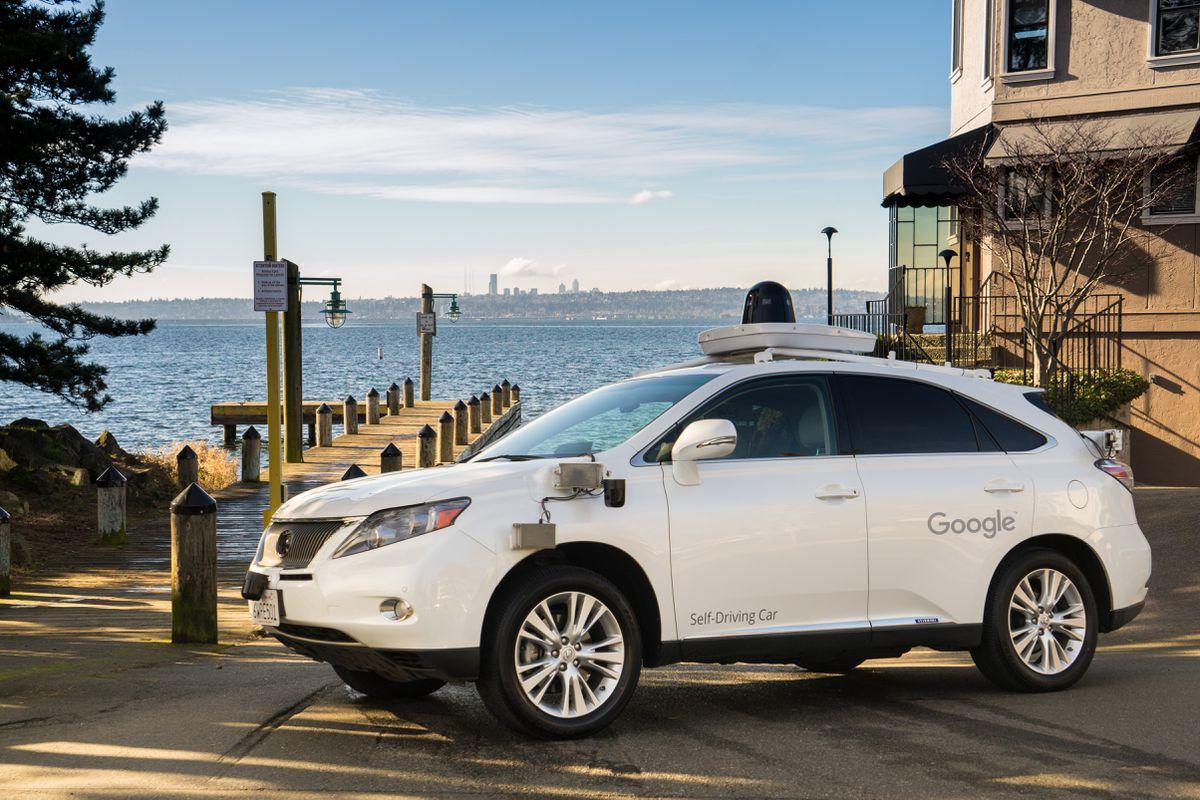 Google's self-driving cars in Kirkland, Wash.