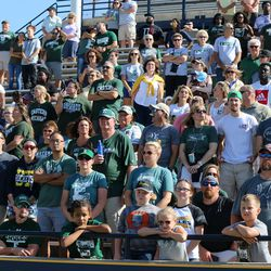 Some of the Eastern Michigan faithful that made the trek to Toledo.<br>