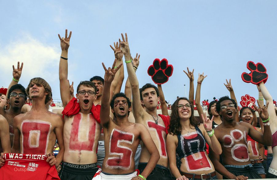and hottest -- things about college football are the fans that paint ...