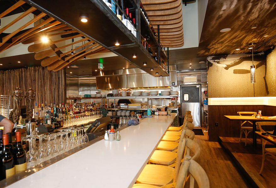 Look inside the new blue island oyster bar eater denver for Blue fish restaurant and oyster bar