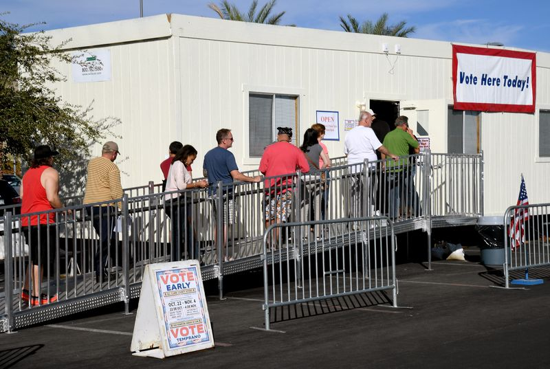 Nevada Voters Head To The Polls During State's Early Voting