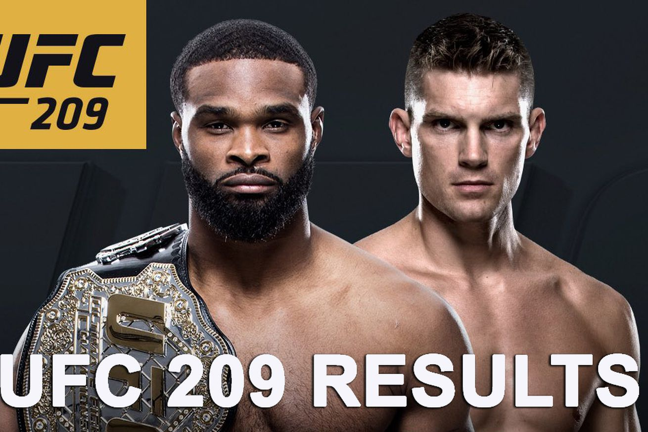 UFC 209 results: Tyron Woodley vs Stephen Thompson live stream play by play updates