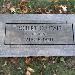 Bob Lewis' headstone