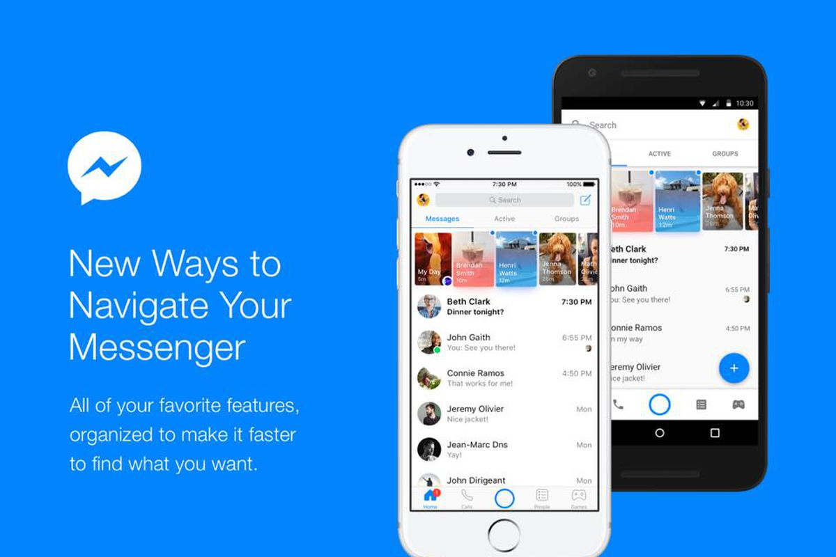 Facebook Messenger has a new, navigation-focused look