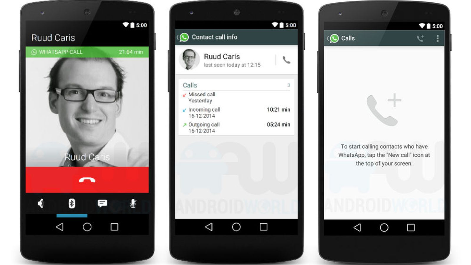 تفعيل مميزة الاتصال في الواتس اب whatsapp call