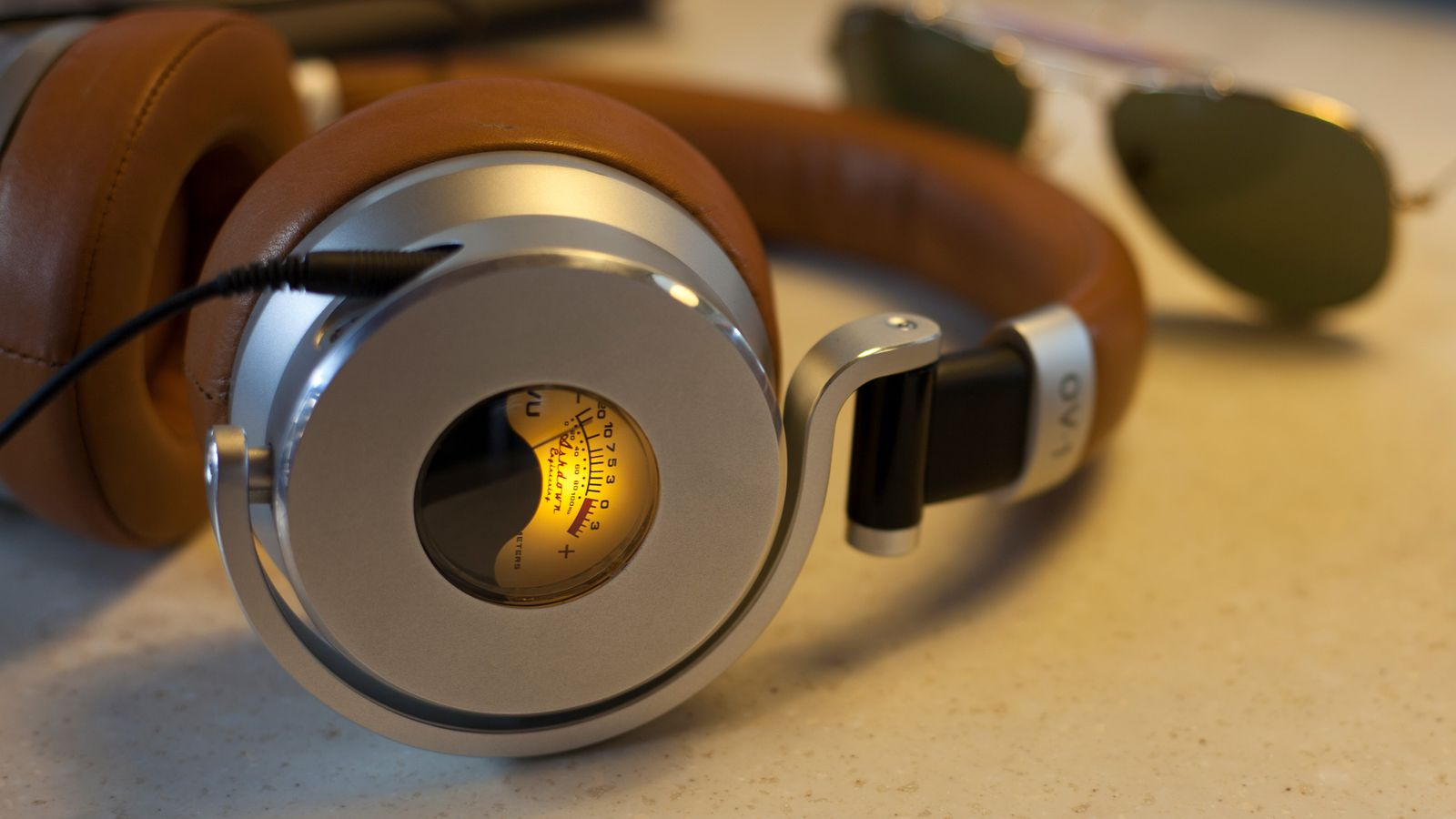 These headphones have a built-in VU meter, and I'm not even mad