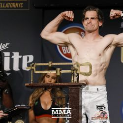 Zach Freeman poses at Bellator NYC weigh-ins.