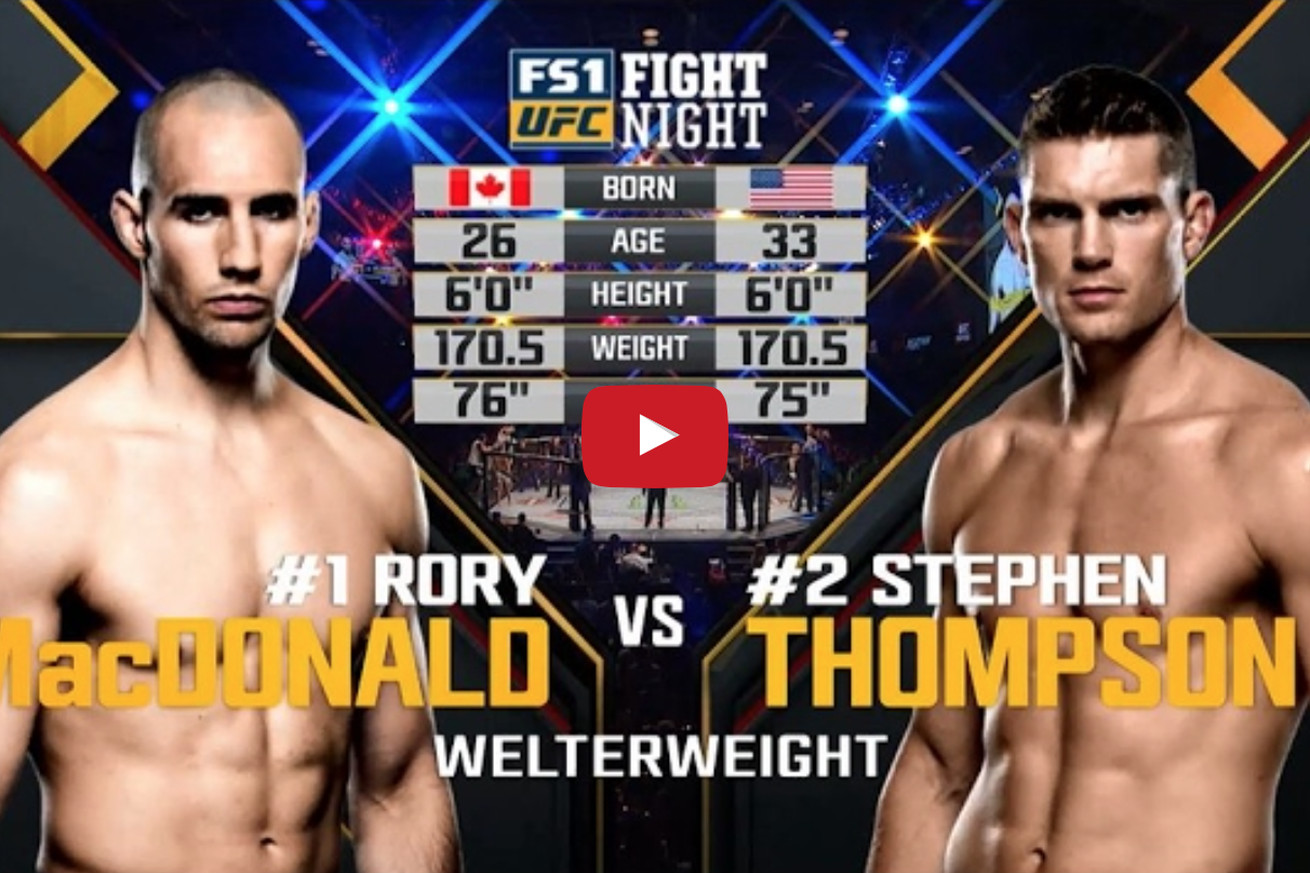 Free fight! Watch Stephen Thompson outclass Rory MacDonald at UFC Fight Night 89 (Video)