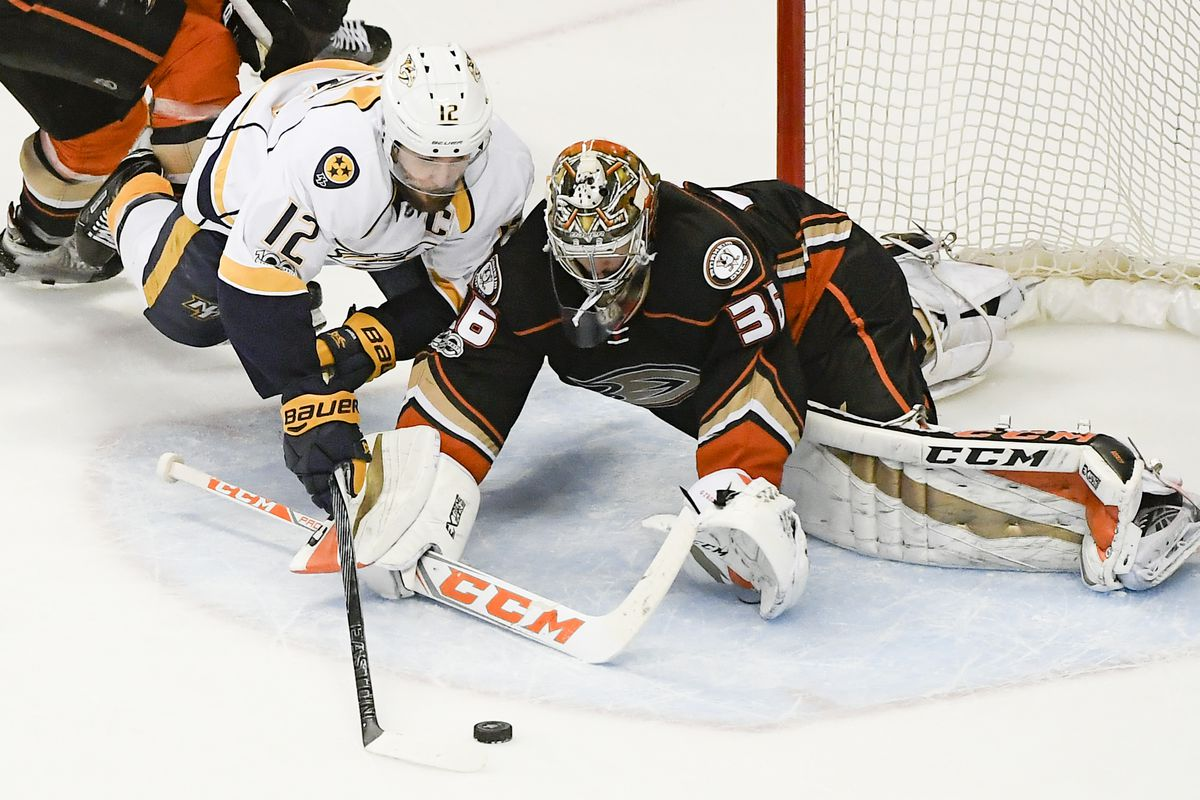 STANLEY CUP PLAYOFFS: Aberg's goal puts Preds past Ducks