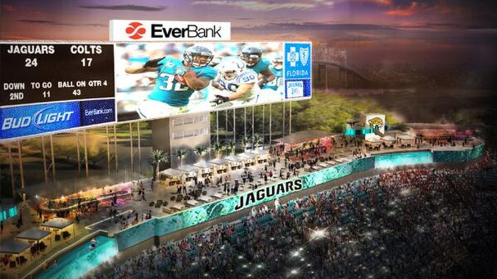 Jaguars Announce Wet Wild Improvements For Everbank Field