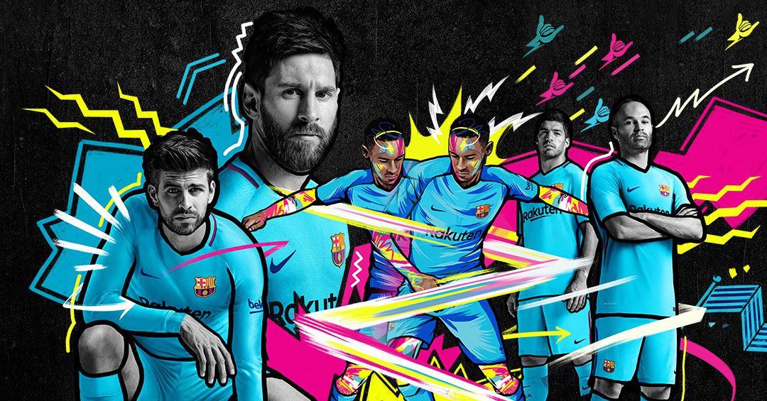 Barcelona Unveil Official 2017 18 Away Kit