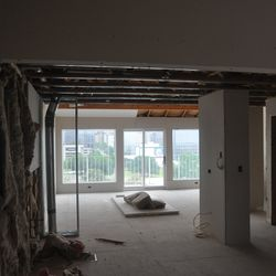 The view through the master suite of one of the units.