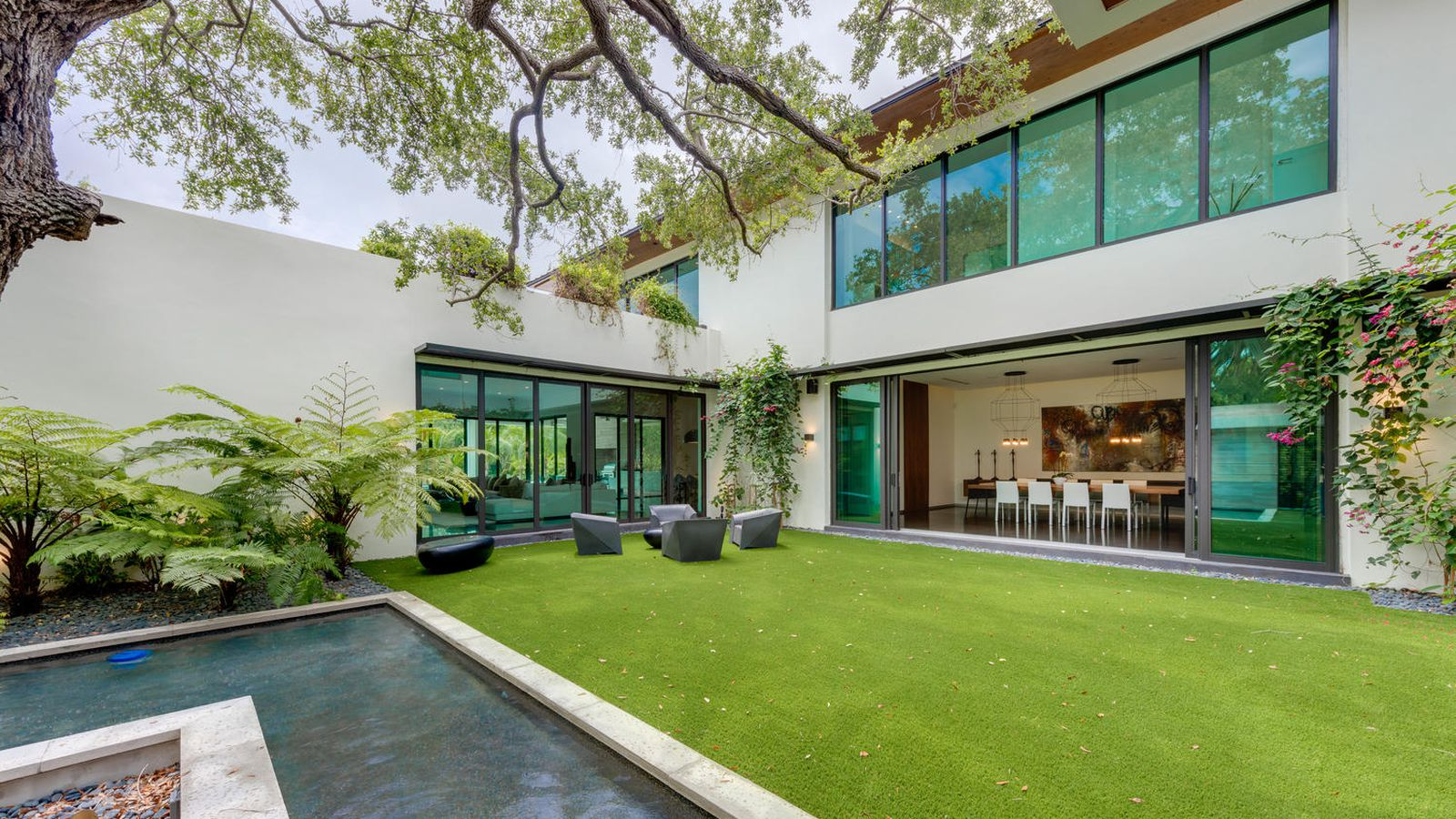 Tour the modern pinecrest home that pulled in a 2016 high for Big modern house tour