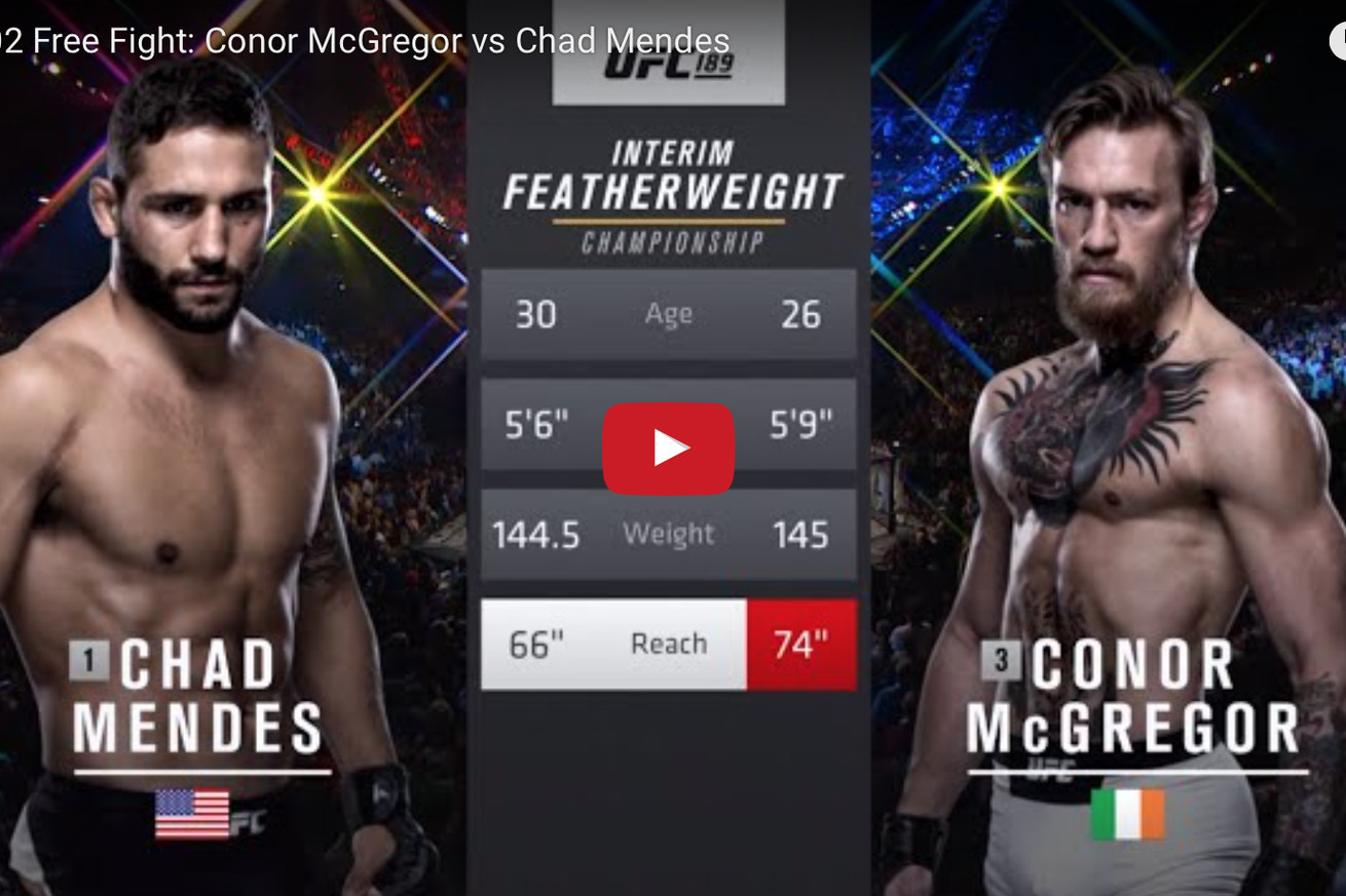 community news, Conor McGregor vs Chad Mendes full fight video released ahead of UFC 202
