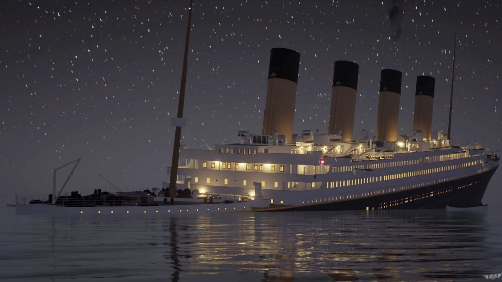 A Real Time Simulation Of The Titanic Sinking Is Slow