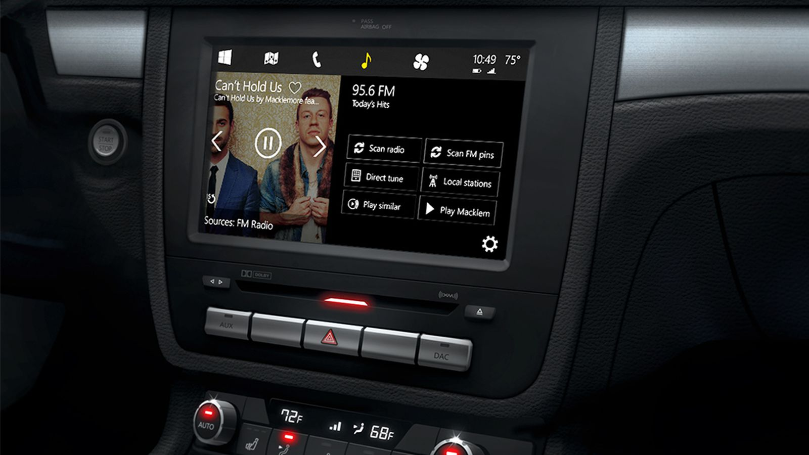 Microsoft Unveils Windows In The Car Battles Apple