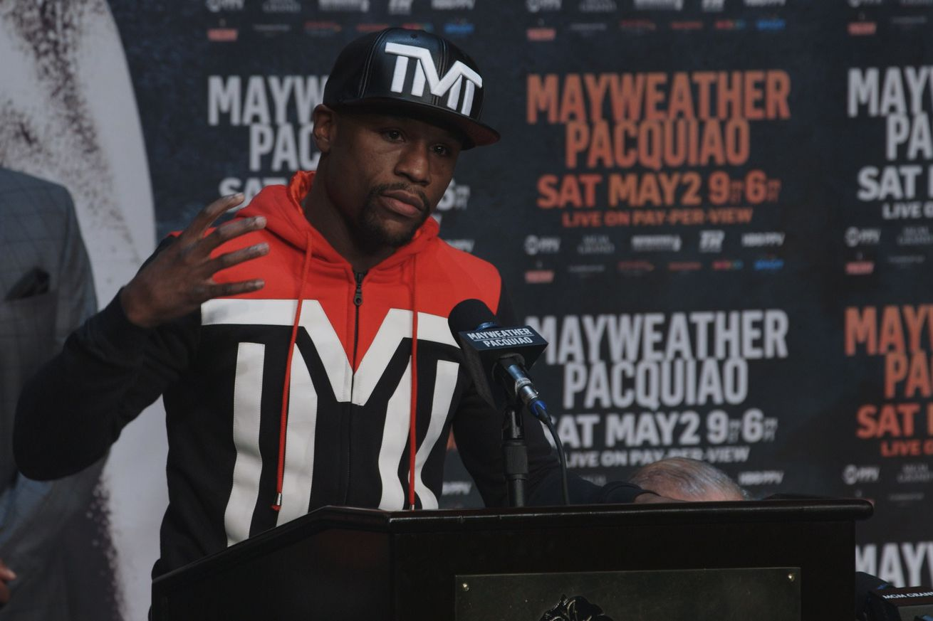 Floyd Mayweather's message to Conor McGregor: 'Sign the paper'