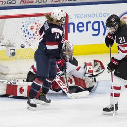 Team USA scores in the first period.