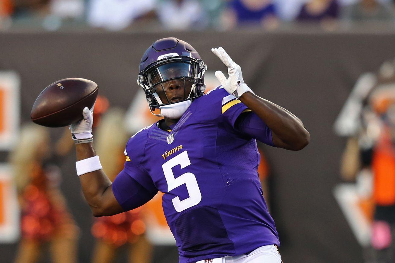 Vikings expected to start quarterback Shaun Hill in opener