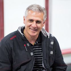 Canes general manager Ron Francis fields questions from the fans. July 1, 2017. Carolina Hurricanes Summerfest and Development Camp, PNC Arena, Raleigh, NC. Copyright © 2017 Jamie Kellner. All Rights Reserved.
