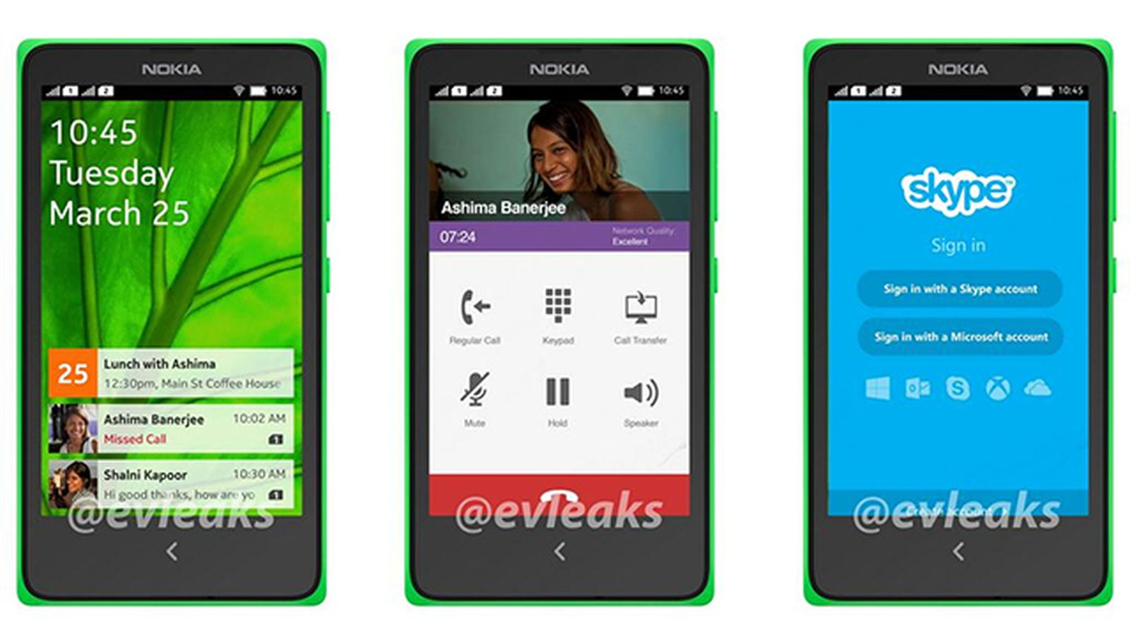 Nokia's Android phone UI revealed in leaked photos