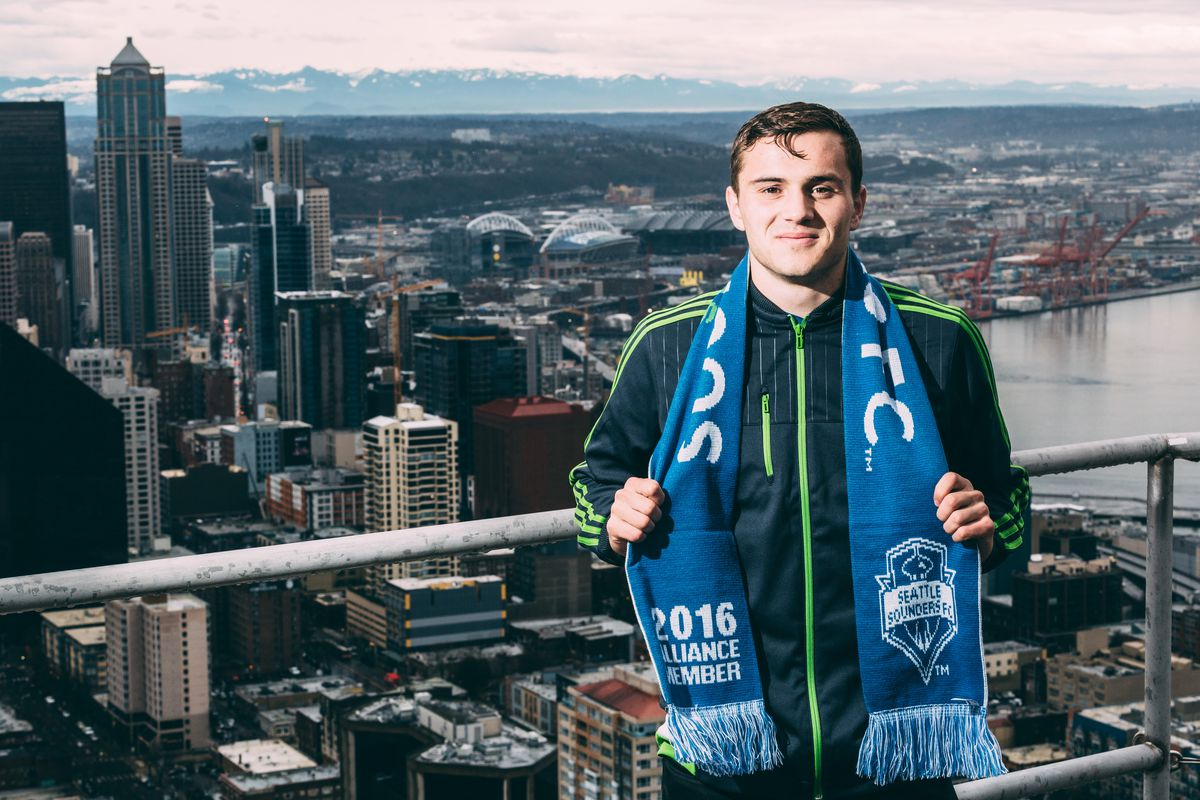 morris wears seattle pride on his sleeve in players photo courtesy of sounders fc