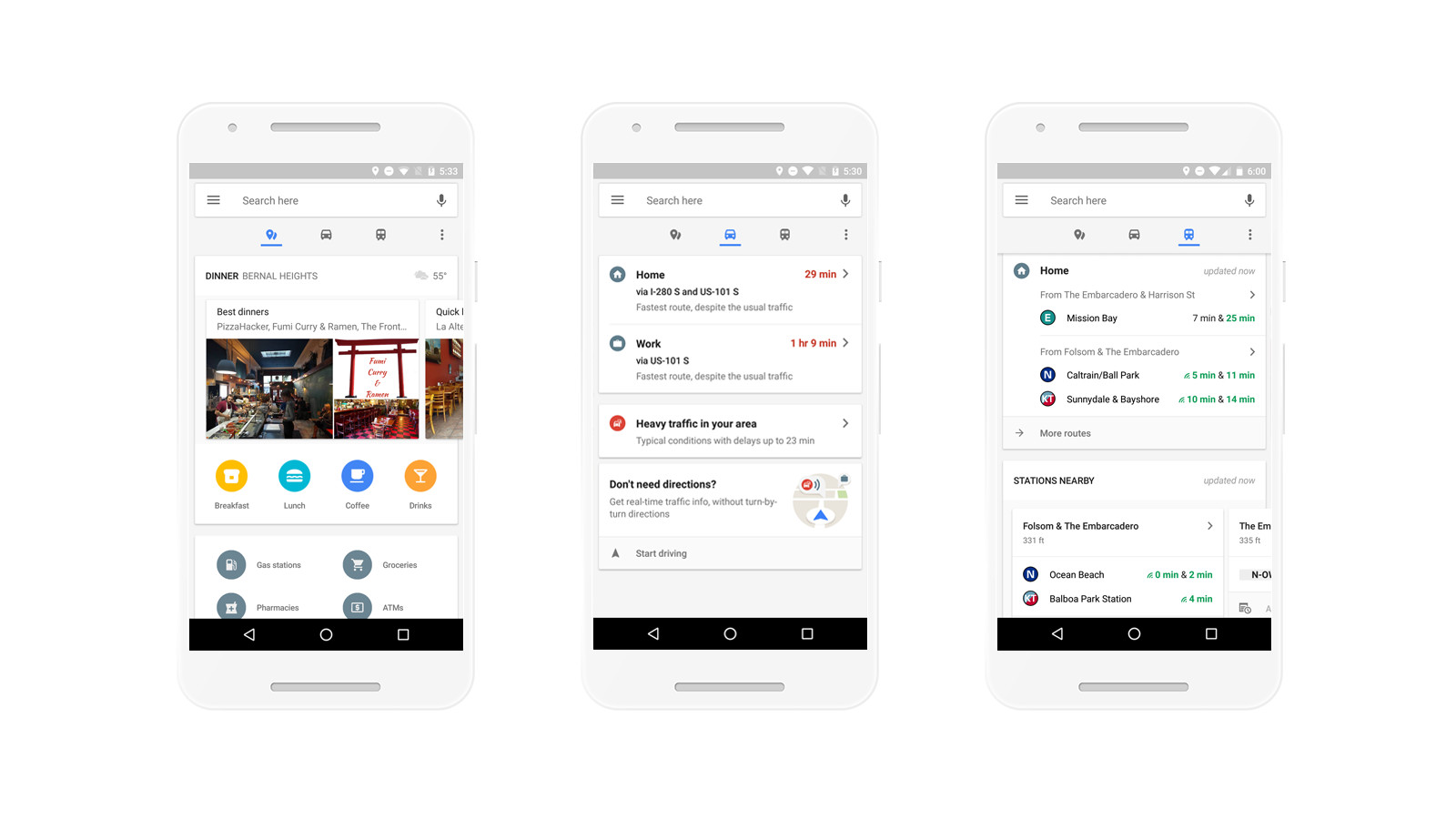 Google Maps on Android Gets a New Design with Quick Access to Commuting Information