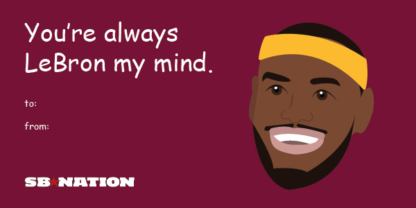 6 shamelessly punny Valentines Day cards for sports fans – Sports Valentines Day Cards