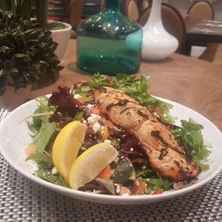Fire-grilled salmon salad at Copper Whisk