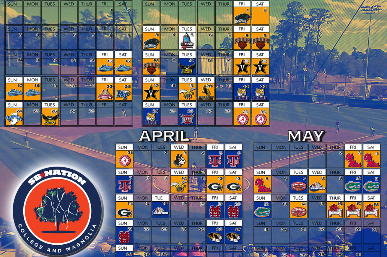 2013 Auburn Baseball Schedule Leaks