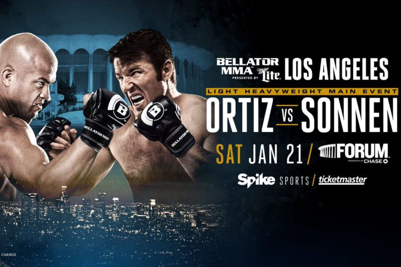 Bellator 170 results: LIVE Ortiz vs Sonnen streaming play by play updates TONIGHT on Spike TV