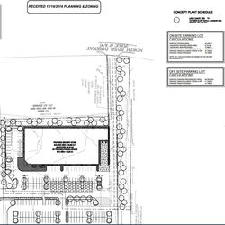 A planting plan for the site.
