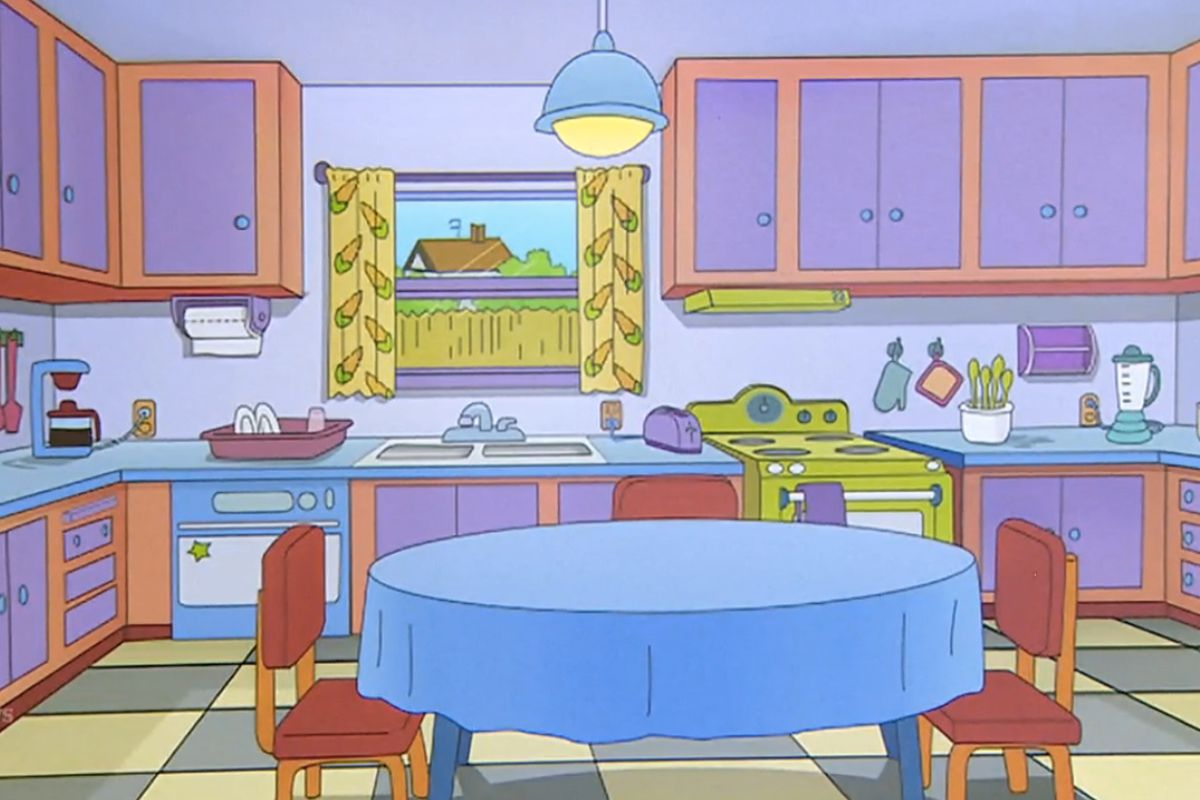 Renovate Kitchen Brilliant Simpsons Fans Renovate Kitchen To Look Just Like